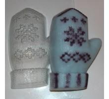 Варежка, форма для мыла пластиковая