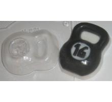 Гиря, пластиковая формочка для мыла