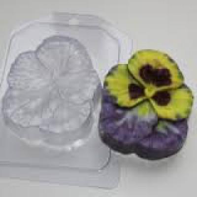 Анютины глазки, форма для мыла пластиковая