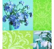 Салфетка 33х33 см  3-х слойн, VIVA, Голубой мир