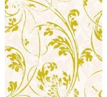 Салфетка 25х25 см  3-х слойн, Богемия, кремово-золотой