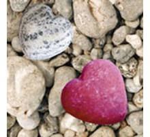 Салфетка 33х33 см  3-х слойная, ATELIER, Каменное сердце
