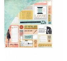 Бумага для скрапбукинга Basic Grey Shift, серия Lucille