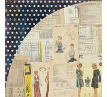 Бумага для скрапбукинга Basic Grey Pleat , серия: Lucille