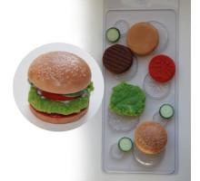 Бургер, пластиковая форма для мыла Россия