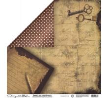 Бумага для скрапбукинга Mr.Painter PSW расцветка 012 (ключи)
