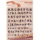 """Набор штампов  """"Алфавит латинский №1"""" 14*18см Mr.Painter"""