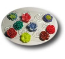 Цветочная поляна, форма для мыла или шоколада, пластик