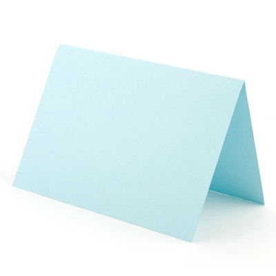 Заготовка для открытки А6 двойная (голубой)