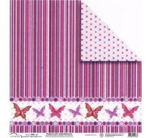 Бумага для скрапбукинга Mr.Painter PSG расцветка 190-069 (бабочки)