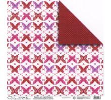 Бумага для скрапбукинга Mr.Painter PSG расцветка 190-068 (бабочки)