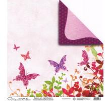 Бумага для скрапбукинга Mr.Painter PSG расцветка 190-067 (бабочки)