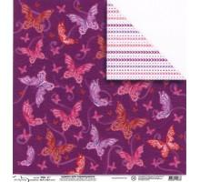 Бумага для скрапбукинга Mr.Painter PSG расцветка 190-071 (бабочки)