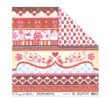Бумага для скрапбукинга Mr.Painter PSG расцветка 190-204 (Любовь)
