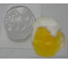 Кружка пива, пластиковая формочка для мыла