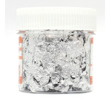 Крошка поталевая, упаковка 2 гр. серебро