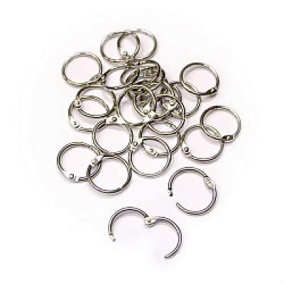 Альбомные кольца 25мм,  цвет серебро