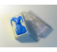 Синяя коза, форма для мыла пластиковая