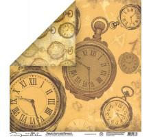Бумага для скрапбукинга Mr.Painter PSW расцветка 007 (часы)