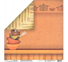 Бумага для скрапбукинга Mr.Painter PSW расцветка 160 (рецепты)