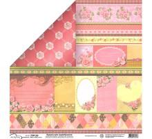 Бумага для скрапбукинга Mr.Painter PSW расцветка 342 (розы)