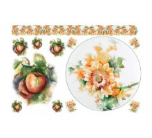 Бумага мягка мини  для декупажа To-Do, мотив яблоко с цветком,  25 x 35 см пр-во Италия