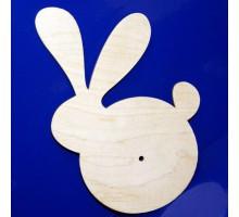 Заготовка для часов -  Круглый заяц, 31*29 см