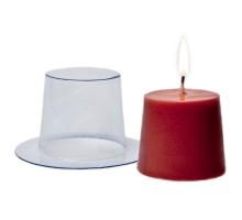 Простая пластиковая форма для свечи(Бочонок)