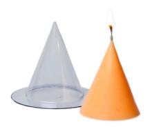Простая пластиковая форма для свечи(Конус малый)