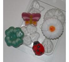 На лугу, форма для мыла пластиковая