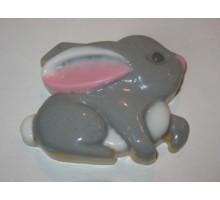 Заяц, форма для мыла пластиковая