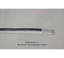 Бумага для квиллинга 5 мм на 350 мм, цвет 37 Графитовый